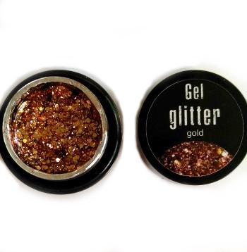 Gel glitter gold