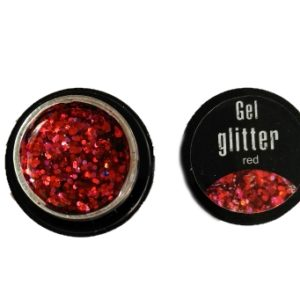 Gel glitter red